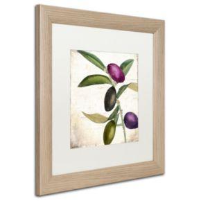 Trademark Fine Art Olive Branch II Distressed Framed Wall Art