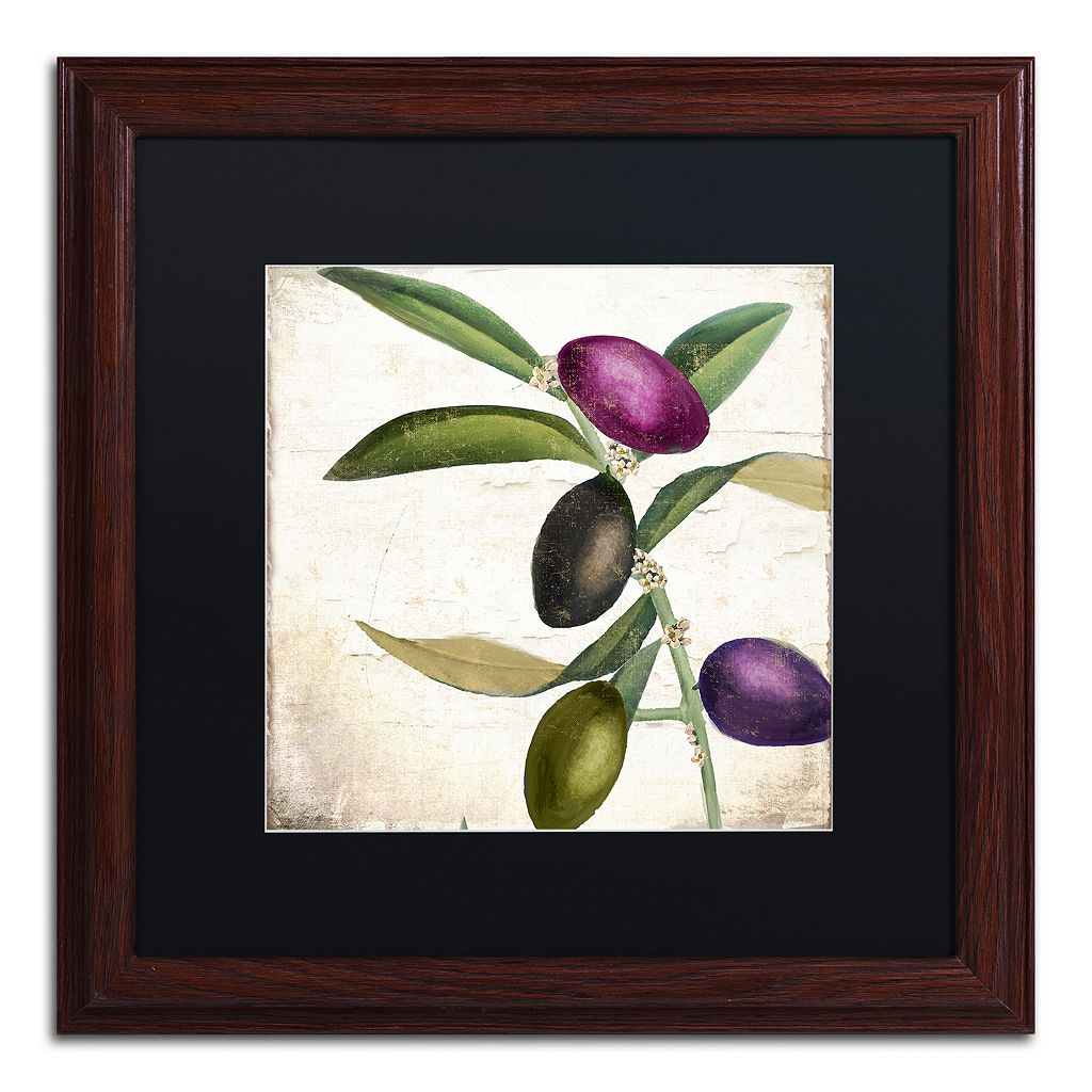 Trademark Fine Art Olive Branch II Traditional Framed Wall Art