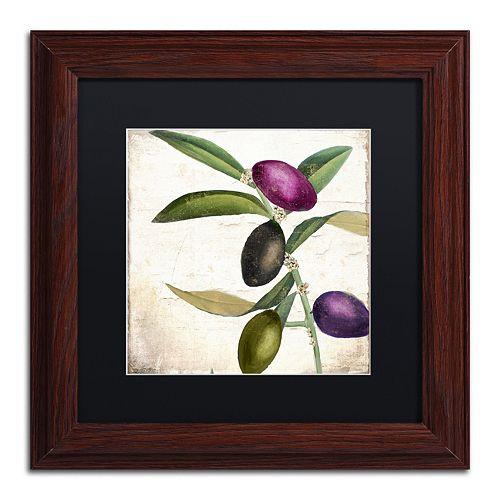 Trademark Fine Art Olive Branch II Traditional Framed Wall Art