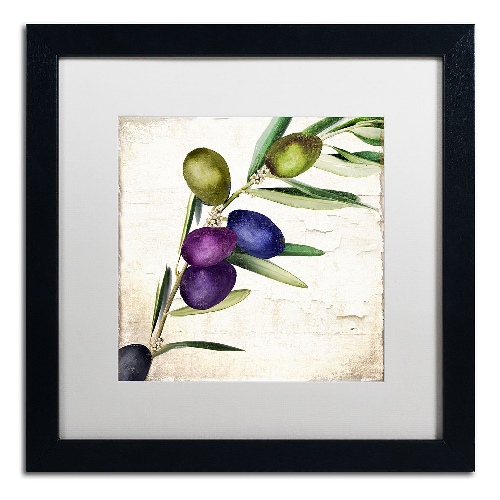 Trademark Fine Art Olive Branch III Black Framed Wall Art