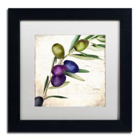 Trademark Fine Art Olive Branch III Black Framed Wall Art