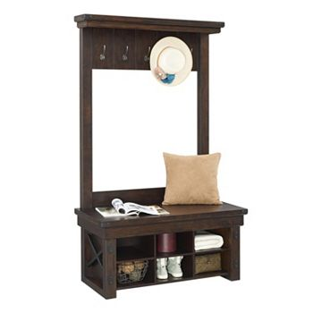 Wondrous Altra Wildwood 5 Hook Entryway Storage Bench Uwap Interior Chair Design Uwaporg