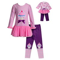 Girls 4-14 Dollie & Me Ice Cream Top & Leggings Set