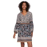 Women's MSK Floral Crochet Trim Shift Dress