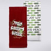 St. Nicholas Square® Joy, Love & Peace Kitchen Towel 2-pk.