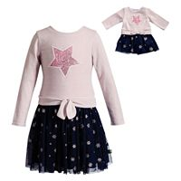 Girls 4-14 Dollie & Me Star Dress