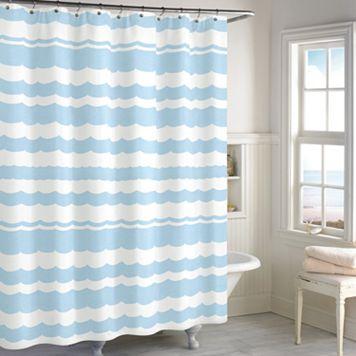 Destinations Wave Scallop Shower Curtain