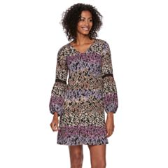Women's MSK Floral Bell Sleeve Shift Dress