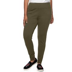Juniors' Plus Size Mudd® Ponte Moto Leggings