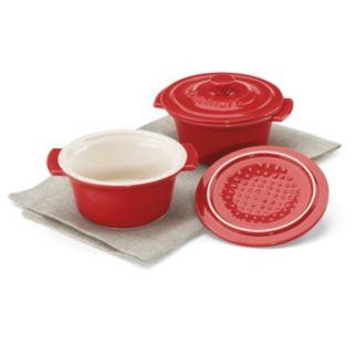 Cuisinart Chef's Classic Ceramic Bakeware 2-pc.  Mini Round Cocotte Set