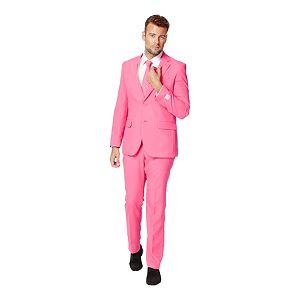 Men's OppoSuits Slim-Fit Pink Novelty Suit & Tie Set