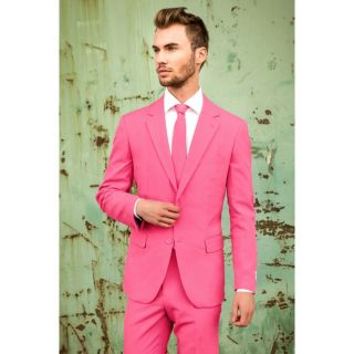 Men's OppoSuits Slim-Fit Pink Novelty Suit & Tie Set