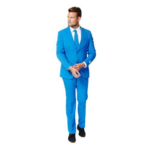 Men's OppoSuits Slim-Fit Blue Novelty Suit & Tie Set