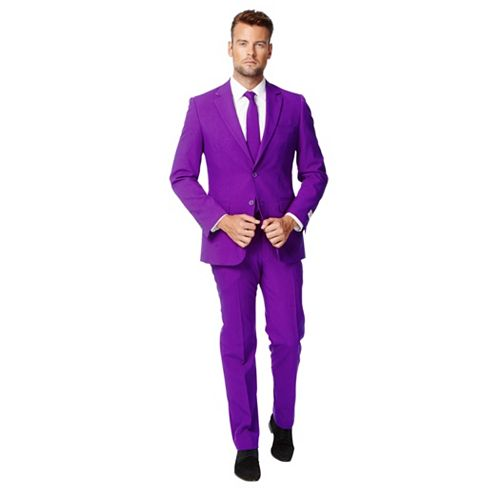Men's OppoSuits Slim-Fit Purple Novelty Suit & Tie Set