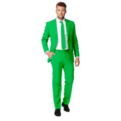 Men's OppoSuits Slim-Fit Green Novelty Suit & Tie Set