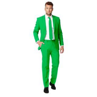 Men's OppoSuits Slim-Fit Green Novelty Suit & Tie Set