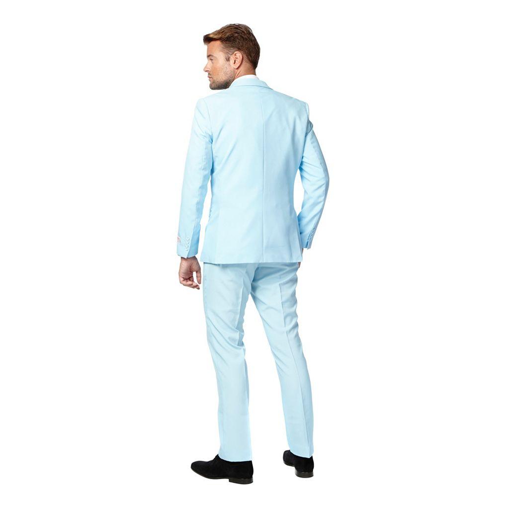 Men's OppoSuits Slim-Fit Light Blue Novelty Suit & Tie Set