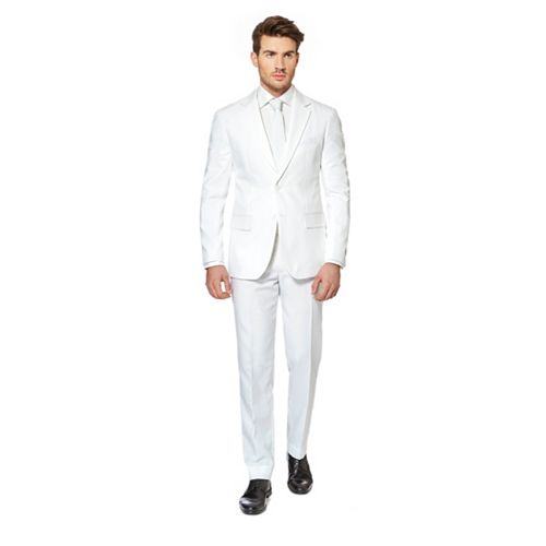 d986e2d55ed0 Men's OppoSuits Slim-Fit White Novelty Suit & Tie Set