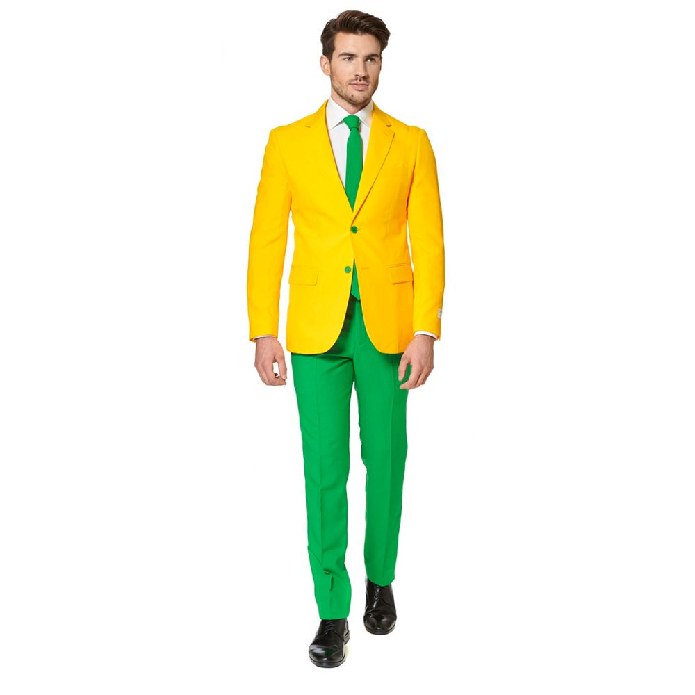 7aa32d952438ee Men's OppoSuits Slim-Fit Green & Gold Novelty Suit & Tie Set