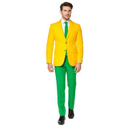 Men's OppoSuits Slim-Fit Green & Gold Novelty Suit & Tie Set