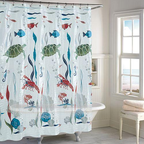 Destinations Aquarium PEVA Shower Curtain