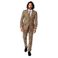 Men's OppoSuits Slim-Fit Jaguar Spots Suit & Tie Set