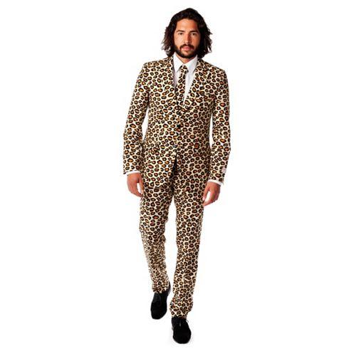 Men's OppoSuits Slim-Fit Jaguar Spots Suit & Tie Set