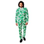 Men's OppoSuits Slim-Fit Poker Face Suit & Tie Set