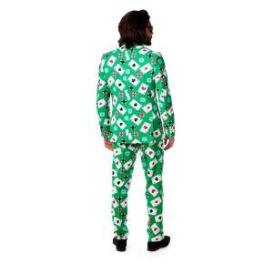 Men's OppoSuits Slim-Fit Poker Face Suit & Tie Set