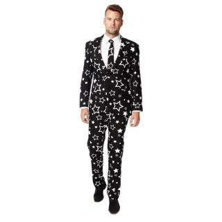 Men's OppoSuits Slim-Fit Starring Suit & Tie Set