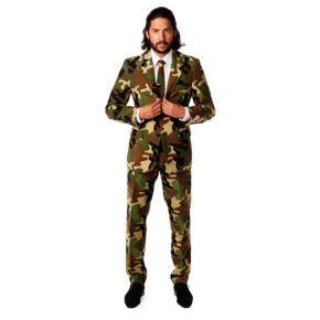Men's OppoSuits Slim-Fit Commando Camouflage Suit & Tie Set