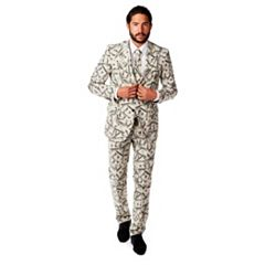 Men's OppoSuits Slim-Fit Cashanova Suit & Tie Set