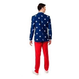 Men's OppoSuits Slim-Fit Stars & Stripes Suit & Tie Set