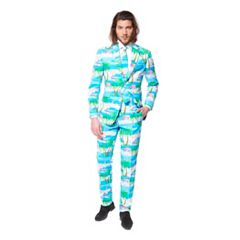 Men's OppoSuits Slim-Fit Flaminguy Suit & Tie Set