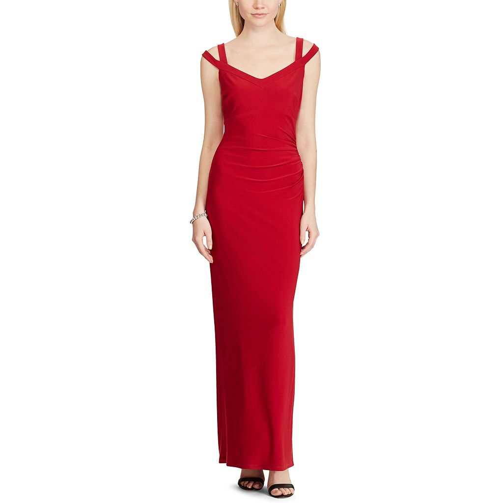 Women's Chaps Shirred Evening Gown
