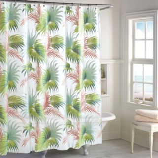 Destinations Beach Palm PEVA Shower Curtain