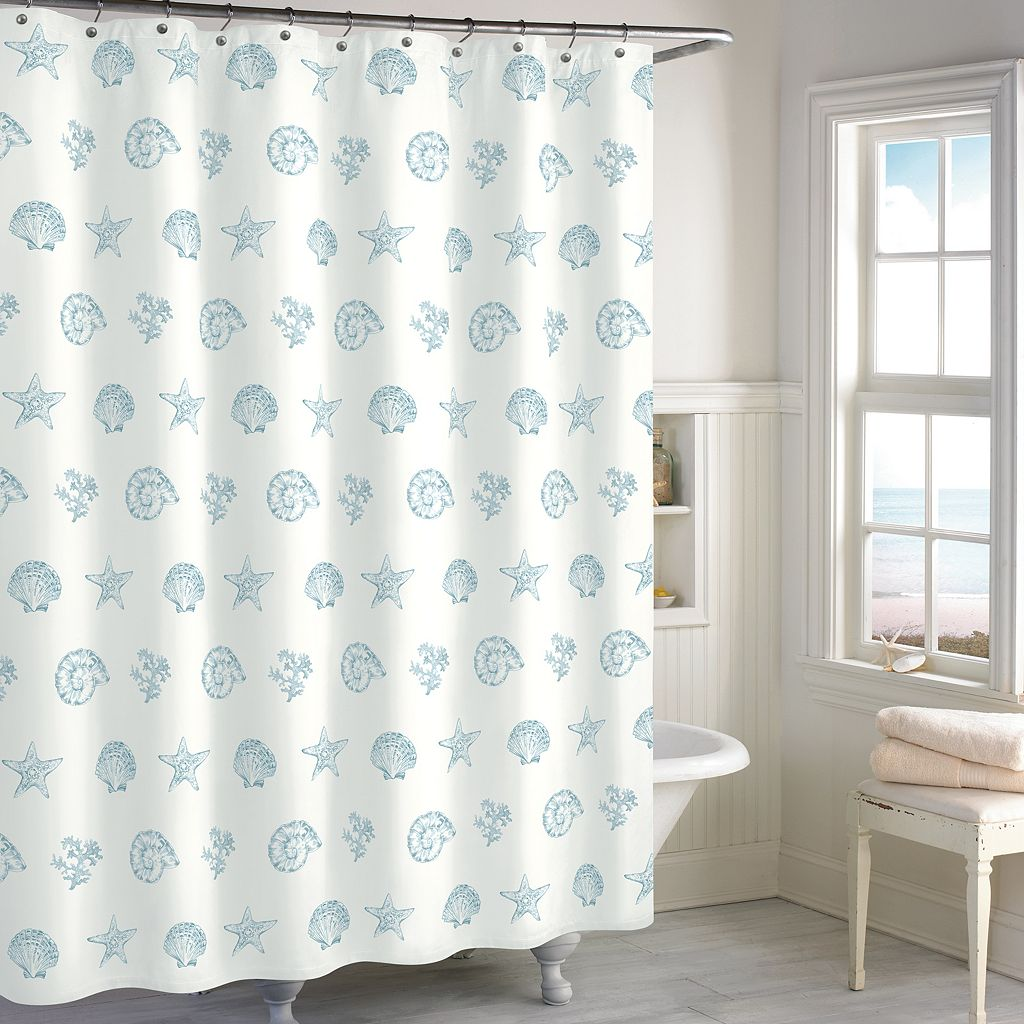 Destinations Coastal Shell Shower Curtain