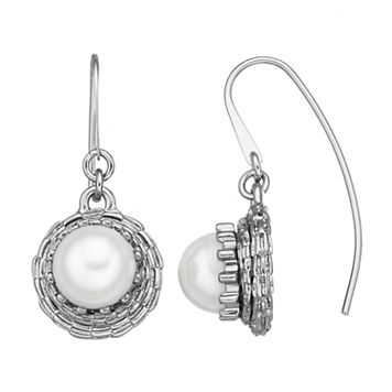 Simply Vera Vera Wang Simulated Pearl Nickel Free Threader Earrings