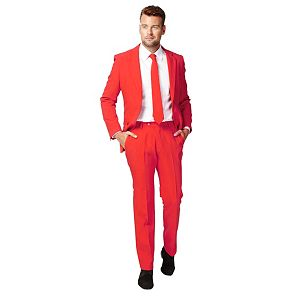 Men's OppoSuits Slim-Fit Red Novelty Suit & Tie Set