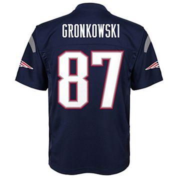 Boys 8-20 New EnglandPatriots Rob Gronkowski Replica Jersey