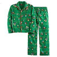 Boys 4-16 Peanuts Holiday 2-Piece Flannel Pajama Set