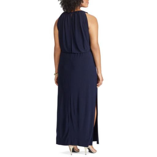 Plus Size Chaps Keyhole Surplice Maxi Dress