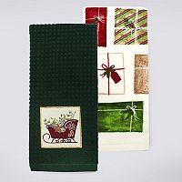 St. Nicholas Square® Sleigh Kitchen Towel 2-pk.