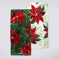 St. Nicholas Square® Poinsettia Kitchen Towel 2-pk.