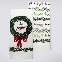 St. Nicholas Square® Be Merry Kitchen Towel 2-pk.