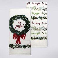 St. Nicholas Square® Be Merry Kitchen Towel 2-pk.