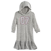 Girls 7-16 SO® 3/4-Sleeve Hoodie Dress