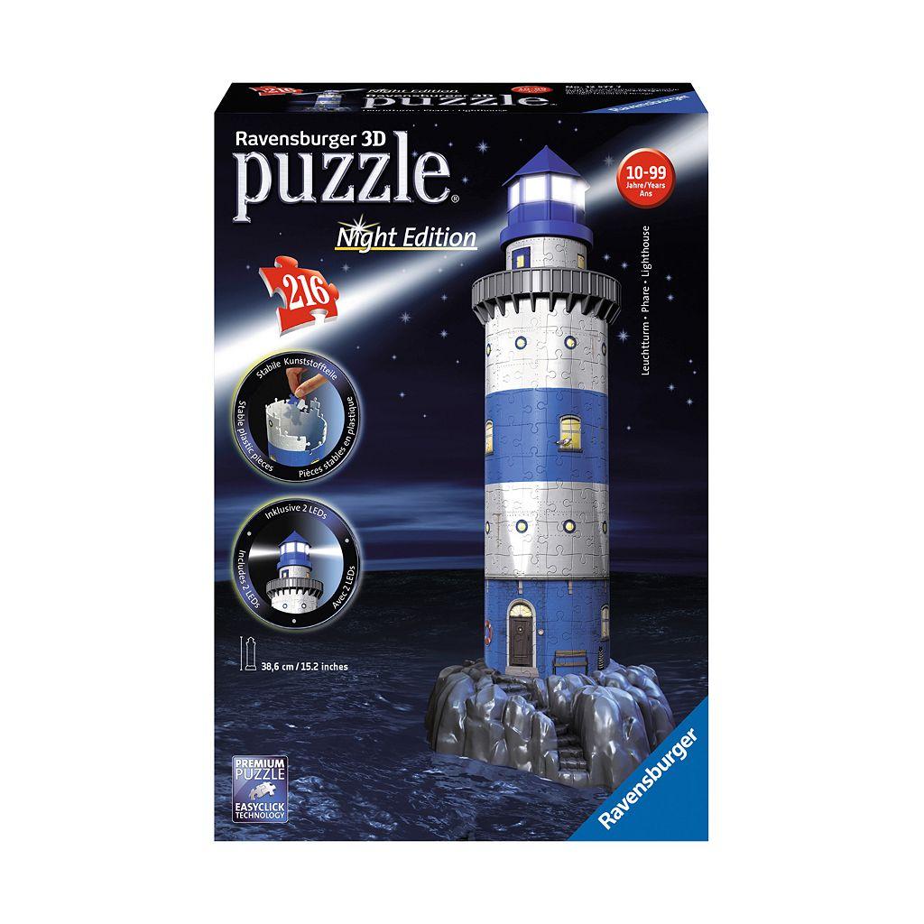 Ravensburger 216-pc. 3D Puzzle Lighthouse Night Edition Puzzle