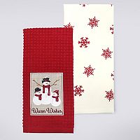 St. Nicholas Square® Warm Wishes Kitchen Towel 2-pk.