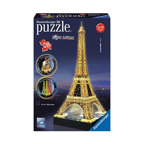Ravensburger 216-pc. 3D Puzzle Eiffel Tower Night Edition Puzzle